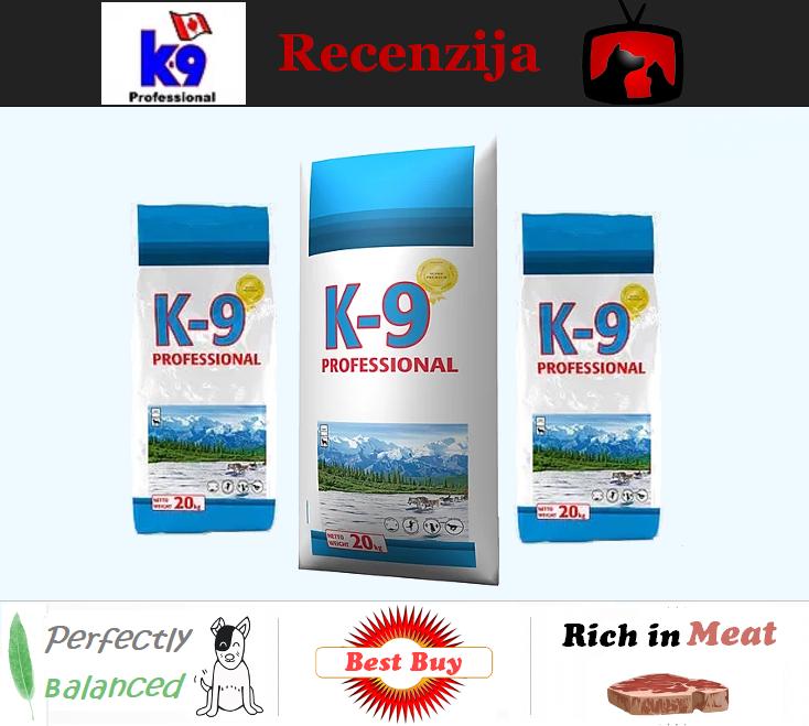 Recenzija K-9 Professional hrana za pse
