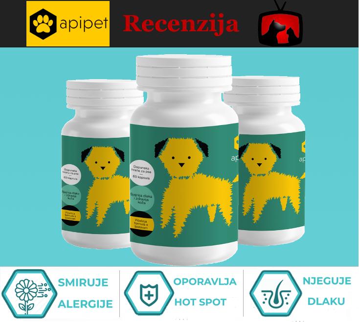 Recenzija Apipet Skin dodatka prehrani pasa